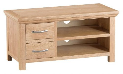 Lymington Natural Oak Square TV Unit